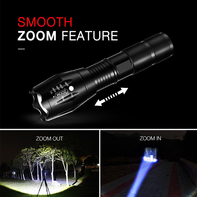 T20 Q250 Led Flashlight Ultra Bright T6/L2/V6 Torch Zoomable 5 Modes TL360 Waterproof Resistant Handheld Light Bicycle Light 4