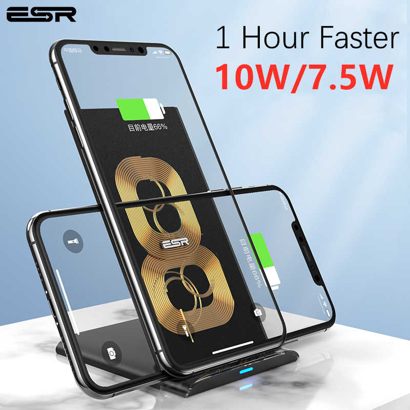 ESR سريع تشى اللاسلكية شاحن سريع 10 واط 7.5 واط آيفون 11 برو Xs ماكس Xr X 8 زائد حامل شحن سريع لسامسونج S10 S9 S8 زائد