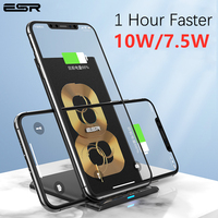 ESR carregador rápido Qi  sem fio  veloz  10 W  7 5W para iPhone 11 Pro Xs Max Xr X 8 Plus  suporte para carga rápida para Samsung S10 S9 S8 Plus
