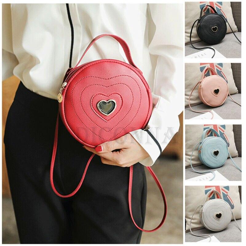 2020 HOT Cute Round Women Bag Handbag Leather Shoulder Tote Satchel Messenger Cross Body Deer High Quality