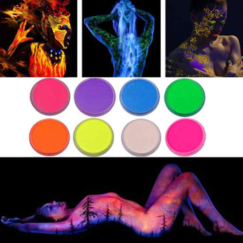 8 Colors Body Painting Pigment Luminous Face Color Body Painting Wax Non-toxic Washable Children's Face Painted Makeup Paint Set