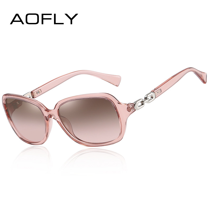 AOFLY Design Sunglasses Women Polarized Luxury Brand Vintage Square Mirror Sun Glasses Female Oversized Travel Goggle Lady UV400