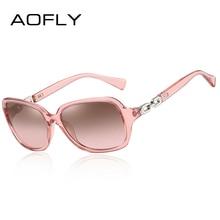 AOFLY Design Sunglasses Women Polarized Luxury Brand Vintage Square Mirror Sun Glasses Female Oversized Travel Goggle Lady UV400