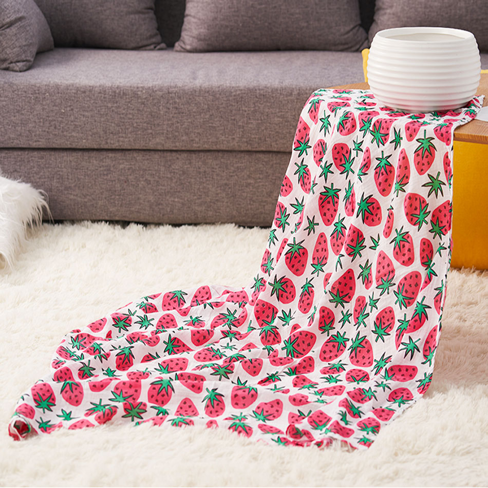 Happy Flute 2018 New Print 1pcs Muslin Bamboofiber Baby Swaddle Newborn Blanket Baby Infant Wrap