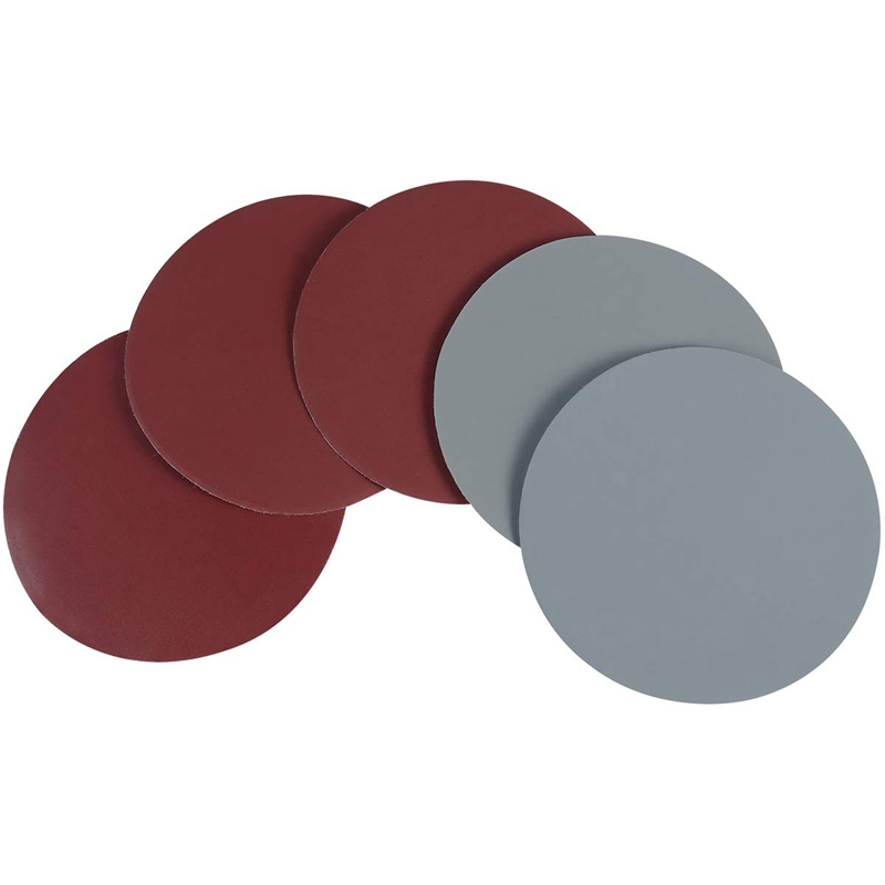 25Pcs 5 Inch Round Sanding Discs Sandpaper Circular Pads Grit Wet And Dry Sandpaper Assortment Drywall Sanding Paper (Red And Gr