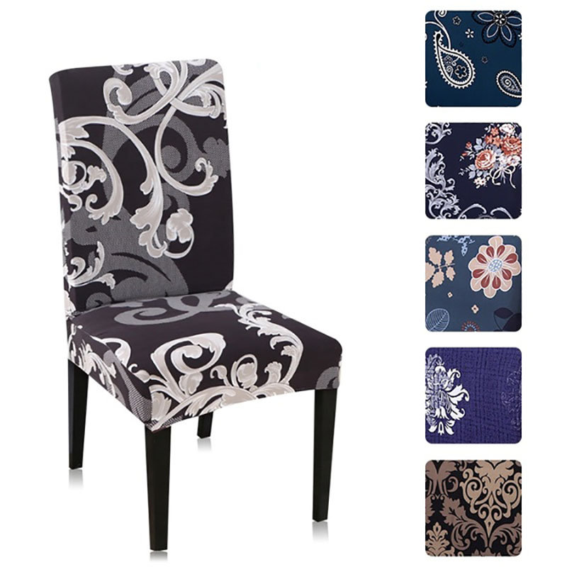 Chair Covers Spandex Modern Seat Covers Printing Covers For Dining Room Chairs CH47007