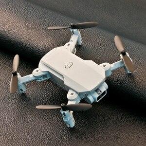 Image 4 - Мини RC Дрон w/ 4K 1080P HD камера WiFi FPV беспилотный, воздушный вертолет для фотографии складной светодиодный светильник Квадрокоптер пульт дистанционного управления Дрон