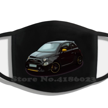 Abarth Printing Washable Breathable Reusable Cotton Mouth Mask Fiat Abarth 595 Pista Competizione image