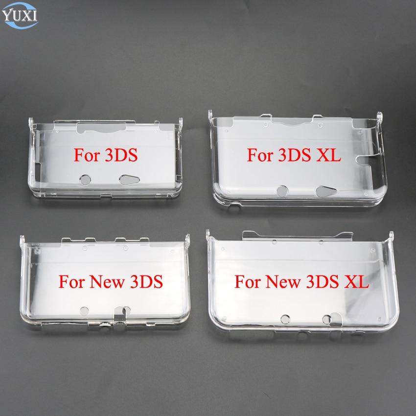 YuXi легкий жесткий пластиковый прозрачный защитный жесткий чехол с кристаллами, чехол для игровой консоли Nintendo 3DS New 3DS XL LL