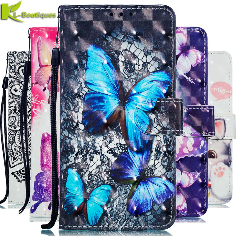 3D Leather Case on for <font><b>Huawei</b></font> Y5 Lite 2018 Case Flip Wallet Phone Cases for <font><b>Huawei</b></font> Y5 Prime 2018 Y5 Lite <font><b>DRA</b></font>-<font><b>L21</b></font> <font><b>DRA</b></font>-LX5 Cover image