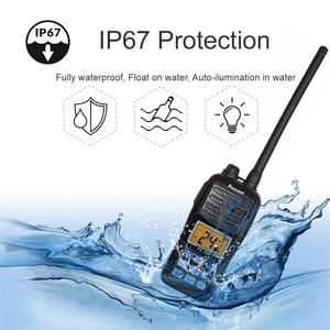 Image 2 - Водонепроницаемый телефон, новая версия, 156,000 161,450 МГц, IP67, водонепроницаемая портативная рация 5 Вт