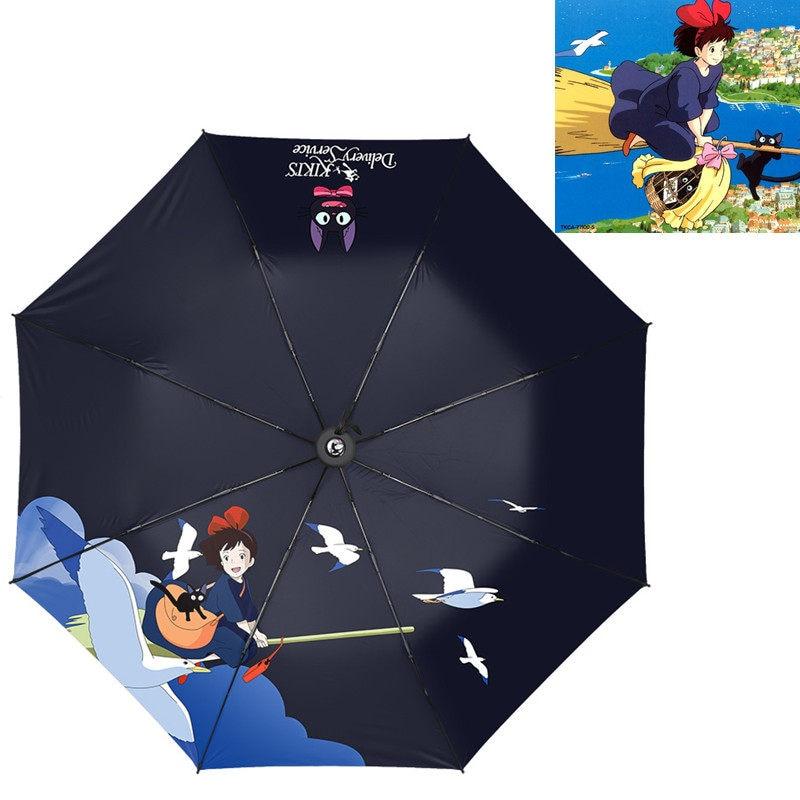 Borderlands 3 Castle 3D Pattern PG Cloth Lightweight Foldable Tri-fold Umbrealla For Rain Sunshade Anti-UV,Qucik-dry Wind Resistance Automatic Umbrellas