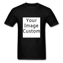 Logo Diy twój własny projekt z nadrukowanym zdjęciem Tshirt firma drużyna reklamowa koszulka 100% bawełna T Shirt mężczyźni dostosowane tekst topy Tees