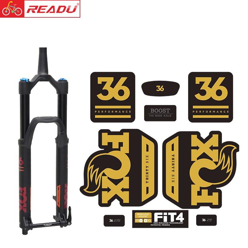 2020 fox float 36 PRESTAZIONI forchetta sticker fox36 forcella anteriore della decalcomania MTB forcella della bicicletta adesivi Accessori Per Biciclette