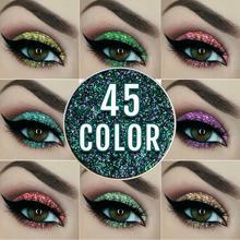 NICEFACE 45 цветов Тени для век один кусочек Блеск порошок Блеск Алмазный тени для век Лазерная пудра 1-24 цвета