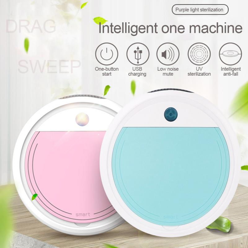 Fully Automatic 4 in 1 Smart Robot Vacuum Cleaner 1800Pa USB Charging Sweeping Robot Dry And Wet Mop UV Disinfection Cleaner|Brooms & Dustpans|   - AliExpress
