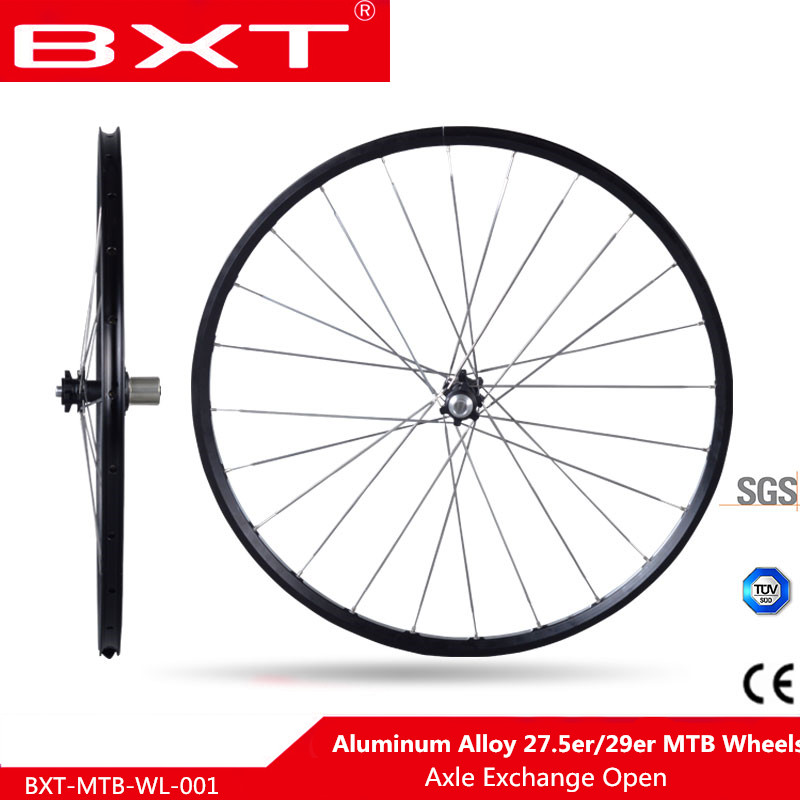 "BXT 27.5"" 29"" MTB mountain bicycle bike Wheels CNC front 2 bearing rear 4 sealed bearings six holes disc wheelset rim"