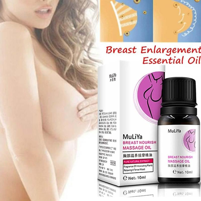 10ml Muliya Breast Enlargement Essential Oil Natural Plant Ingredients Chest Firm Lift Up Massage Cream Enlarge Bust Hips Ass