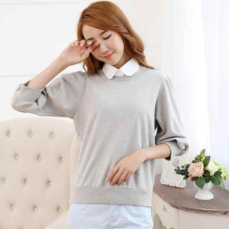 Kerah Vintage Solid Putih Hitam Dasi Dilepas Kerah Dickie Kerah Palsu Yang Dapat Dilepas Wanita Aksesoris Pakaian