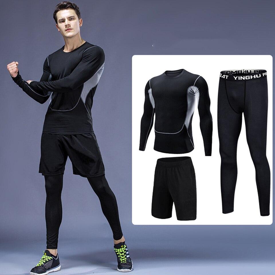 MMA Boxing Jerseys Sets Rashguard MMA Shorts+T-shirts+Pants 3 Pcs/Set Compression Kickboxing Tights Sportwears Bjj GI Tracksuits