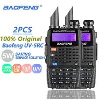 baofeng uv 5r uv 2pcs Baofeng UV-5RC מכשיר הקשר Dual Band VHF UHF ציד רדיו CB Ham Radio Commmunicator Baofeng UV-5R פלוס Woki טוקי 10 KM (1)