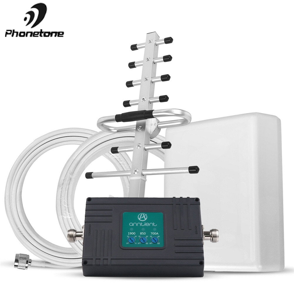 US/CA Cell Phone Signal Booster For AT&T 700MHz Cell Phone Signal Booster 3G 4G 850/1900 MHz Repeater Band 5,2,12,17 Voice/Data