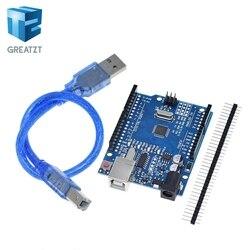 GREATZT alta calidad One set UNO R3 (CH340G) MEGA328P para Arduino UNO R3 ATMEGA328P-AU Placa de desarrollo