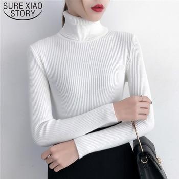 Autumn Winter Clothes Women Turtleneck Sweaters Fashion 2019 Women Knit Sweater Women Sweaters and Pullovers Solid 6047 50