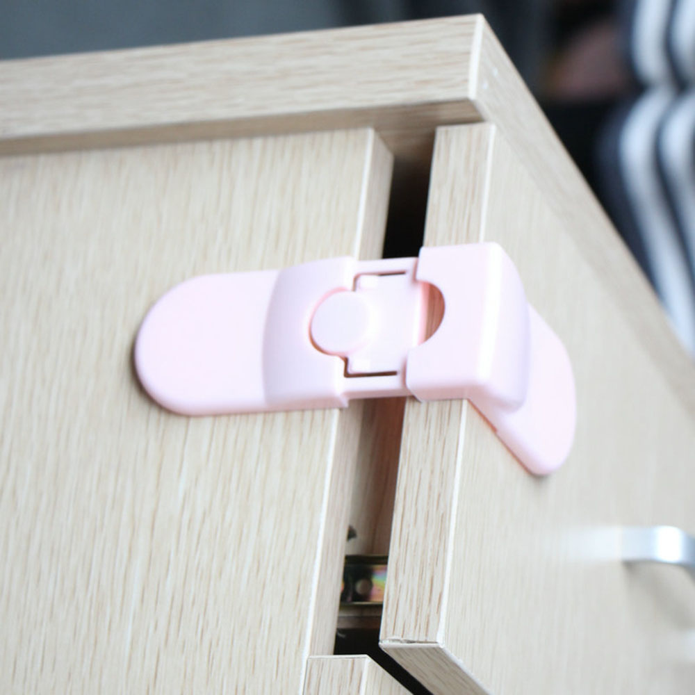 2 Colors Kids Baby Safety Lock Cabinet Locks Strap Pet Housing Door Cupboard Refrigerator Drawer Safety Lock For Children Safety