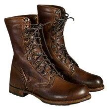 Fashion Boots Men Shoes Zapatos De Hombre Retro Men PU Leath