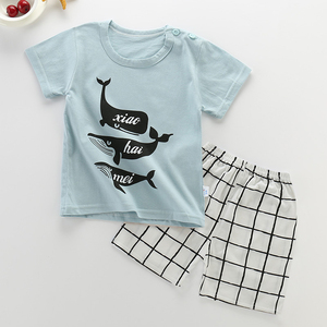 6M-5Yrs Baby Boy Summer Clothes Set Sports Tshirt+Shorts Suits Infant Newborn Baby Boy Girl Clothes Baby Boy Clothing Set