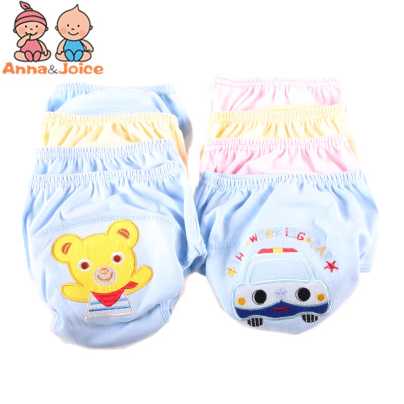 2PCS Retail Baby Training Pants/Child Cloth Study Pants/Reusable Nappy Cover/Washable Diapers Underwear