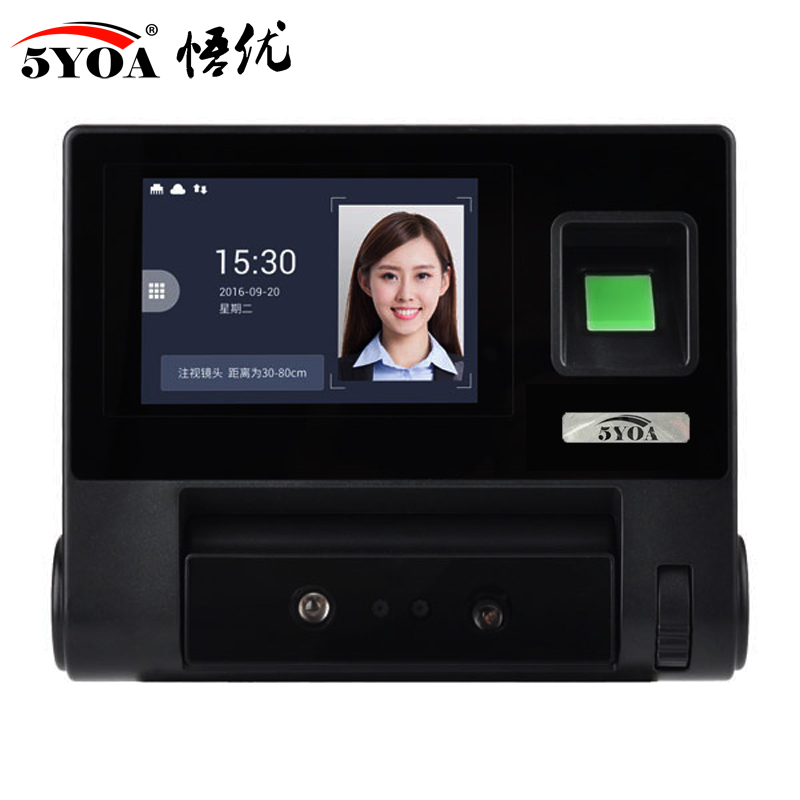 Advanced facial recognition access control Fingerprint Face biometric device attendance machine(China)