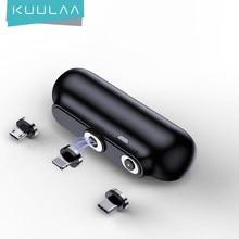 KUULAA batterie externe magnétique 2600mAh Mini chargeur sans fil PowerBank petit aimant Portable batterie externe Mobile d'urgence