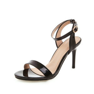 Image 3 - ZawsThia 2020 קיץ פטנט PU צהוב לבן 9cm דק עקבים גבוהים משאבות פיפ בוהן סקסי אישה חתונה נעלי סנדלי גודל גדול 33 50