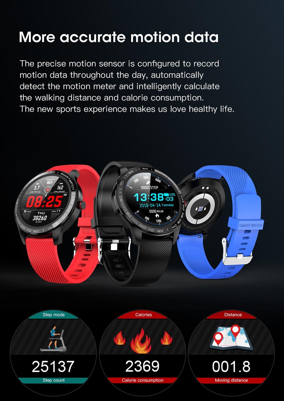 Hcc1378df79c44e8b9554870e9ce6eb9fX 696 L9 Full touch Smart Watch Men ECG+PPG Heart Rate Blood Pressure oxygen Monitor IP68 Waterproof Bluetooth Smart Bracelet