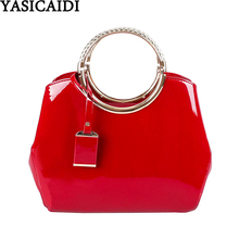 YASICAIDI 2020 Patent Leather Ladies Hand Bags