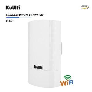 Image 3 - 2 pezzi 5Ghz 900Mbps 1KM p2p Wireless Outdoor CPE Ponte Router Supporta La Funzione WDS Nessuna impostazione con display A LED