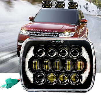 for Jeep Wrangler Car LED Projector Headlight Auxiliary Light 7 inches 85W H4 Bulb LED Front Headlights Truck Headlamp 6000K
