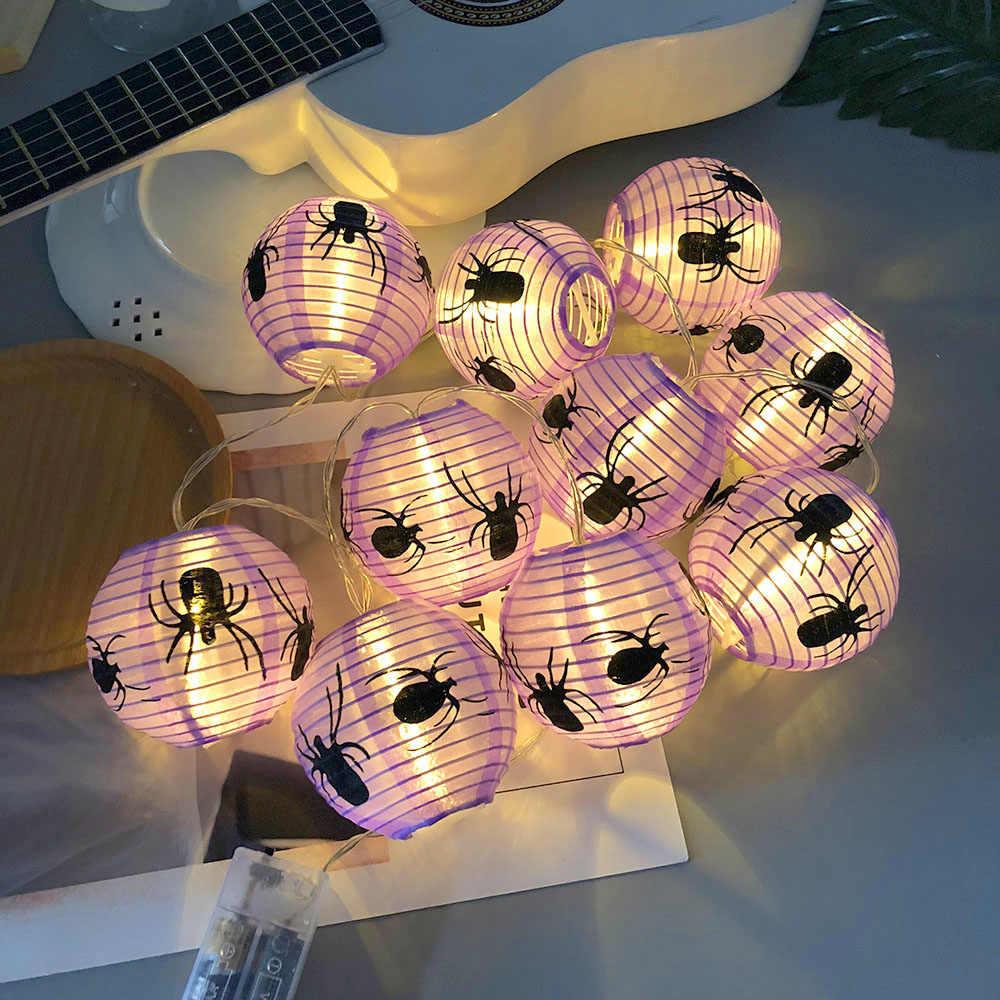 Halloween Tím Nhện 10 ĐÈN LED Đèn Lồng Dây Đèn Đảng Đèn Dây LED Ma Lễ Hội Cảnh Đèn Trang Trí Dây