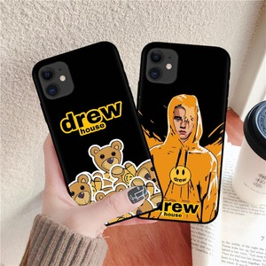 Luxury brand Drew House Justin Bieber Soft Phone Case For iPhone 11 Pro MAX Smiley face For iPhone X 6 6S 7 8 Plus XR Xs Max(China)