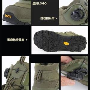 Image 5 - ESDY bottes de moto pour hommes, chaussures de sport en plein air, baskets descalade, résistantes à lusure, respirantes, chaussures de désert tactiques noires