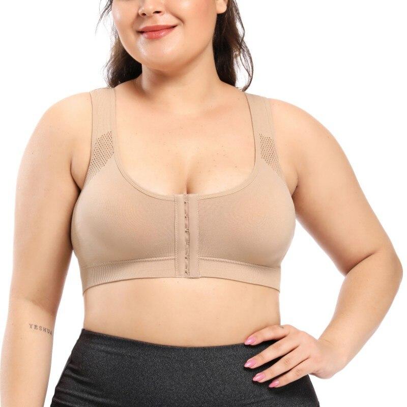 Bra Posture Corrector Lift Up Women Cross Back Breathable Underwear Shockproof Sports Support Fitness Vest Bras