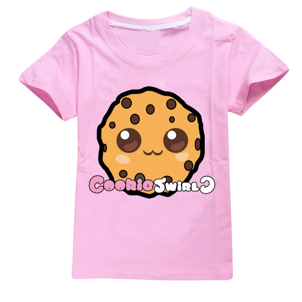 Summer 2Pcs/set Boys Girls Cotton COOKIE SWIRL C T-shirts Children Fashion Clothing Tops Casual Tees Kids Clothes+sunhat 2