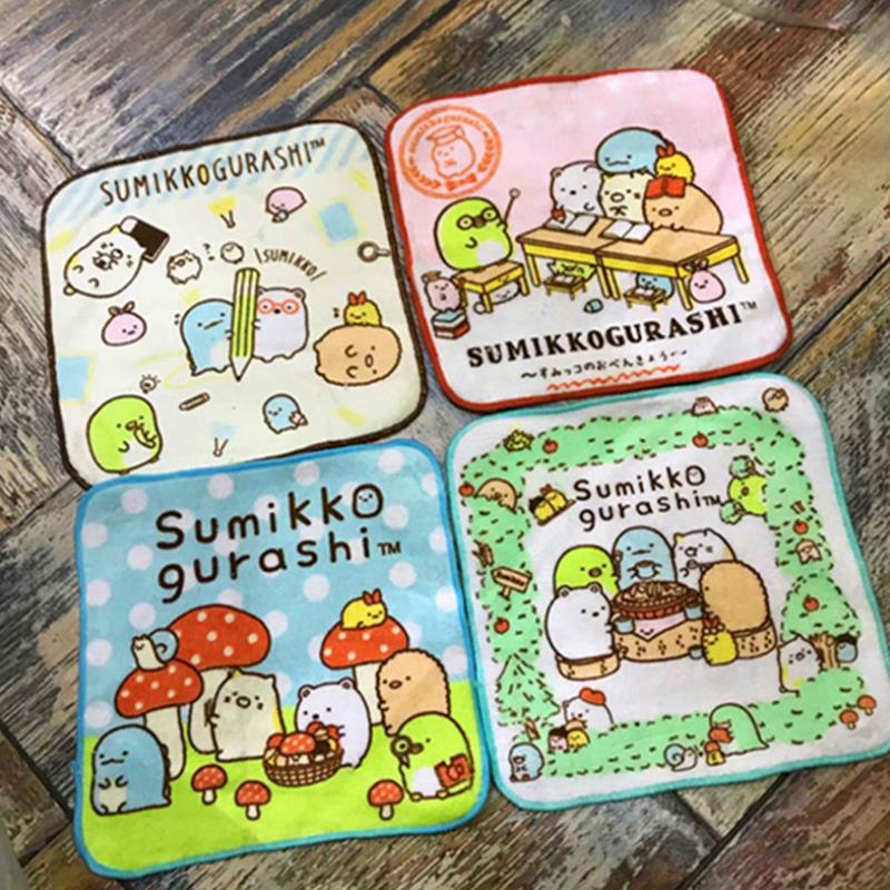 1 Pc Exquisite Japanese Sumikko Gurashi Square Plush Hand Towel Handkerchief Kids Gift Plush Toys