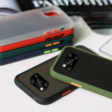 Shockproof Armor Matte Frosted Phone Case for Xiaomi Mi Poco X3 on For Mi Poco M3 X3 Nfc C3 Soft Edge Back Cover Pocox3 Pococ3