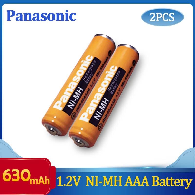2 шт. оригинальный аккумулятор Panasonic AAA 1,2 V 630mAh Ni-MH NIMH время зарядки или 1200 раз Бесплатная доставка!