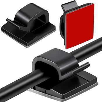 50 wzmocnione zaciski kablowe z mocną taśmą zaciski do przewodów organizery kabli opaski organizery kabli do samochodów biur tanie i dobre opinie FARAJIAJ CN (pochodzenie)