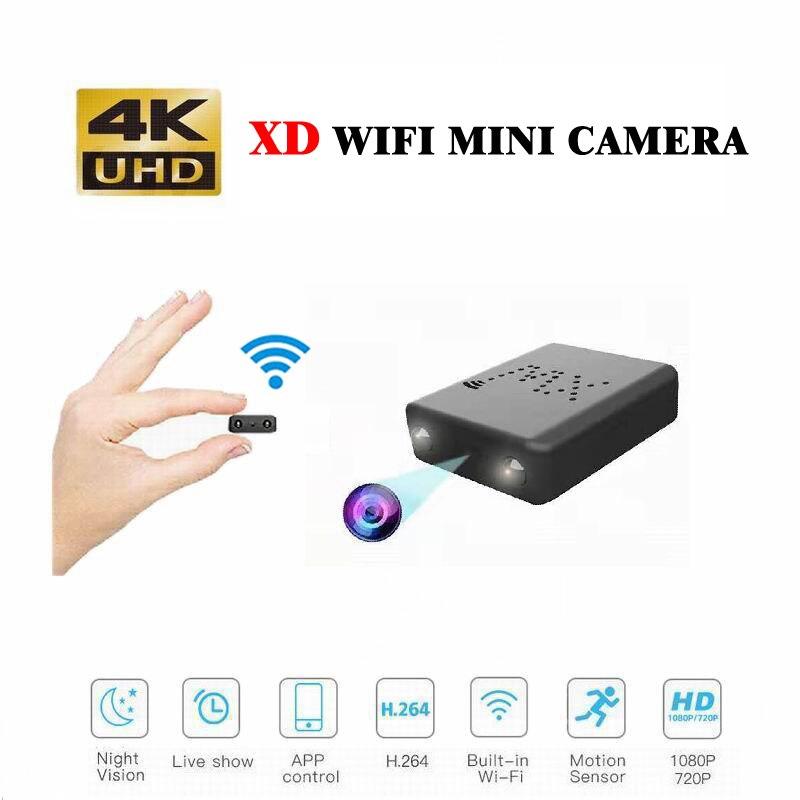 Wifi IP Mini Camera 4K /1080P Cam Night Vision Micro Camera Motion Detection Mini DVR Cam Hidden Mini Camcorder XW/XD