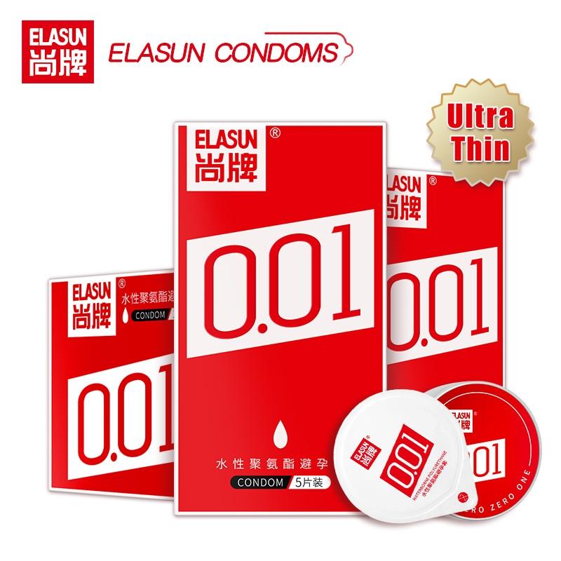 Сверхтонкий Невидимый презерватив со смазкой Elasun 0,01 мм, секс-продукт из полиуретана, не латекса, ледяной огонь, большой член, презервативы д...